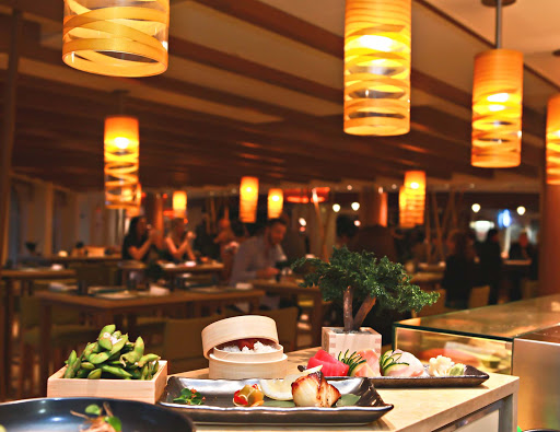 carnival-vista-Bonsai 2.jpg - Enjoy sushi, sashimi, and sake at Bonsai Sushi, one of the many dining options on Carnival Vista.