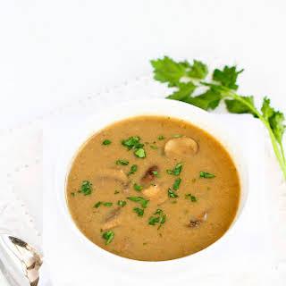 Vegan Cream of Curry Mushroom Soup.