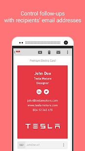 Clinck - digital business card- screenshot thumbnail