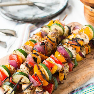 Tuscan Grilled Chicken Kabobs