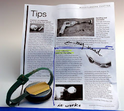 """Photo: Bob Browning - Modification for dust collector port from 'Tips"""" section of America Woodturner, Summer 2009 issue"""