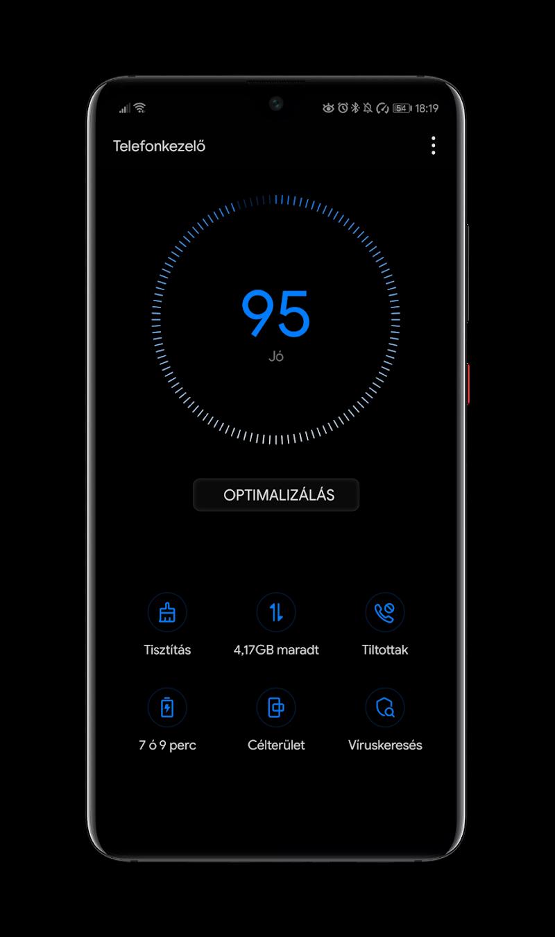 Black Pie Theme for EMUI 9 / 9.1 Huawei/Honor Screenshot 4