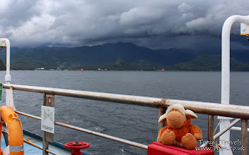 Photo: Storm Clouds over Bali, Ferry to Lombok, Indonesia