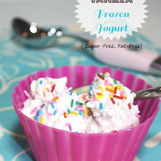 Vanilla Frozen Yogurt {Sugar-Free, Fat-Free}.