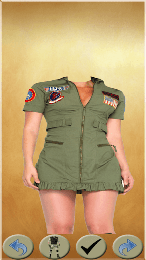 Army Women Photo Suit