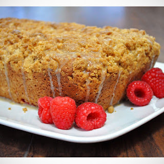 Raspberry Crumb Bread with Lemon Glaze