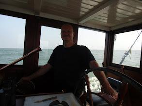 Photo: Kees in zijn element op zee