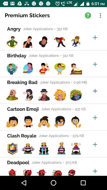 Premium Stickers For WhatsApp