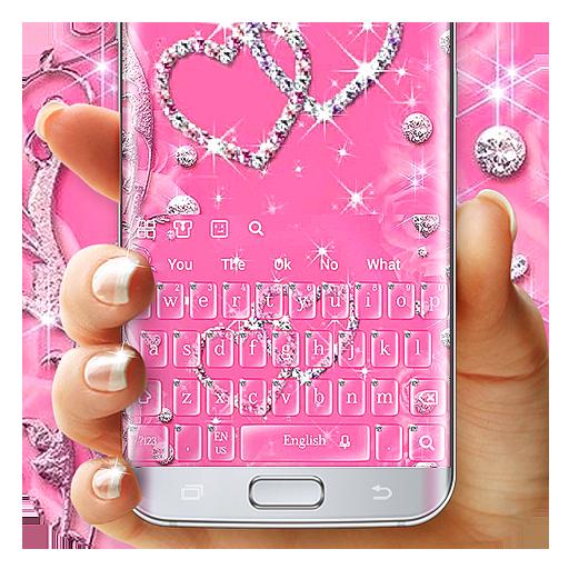 Pink Diamond Love Keyboard