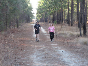 Photo: Dean and Sylvana running to the finish