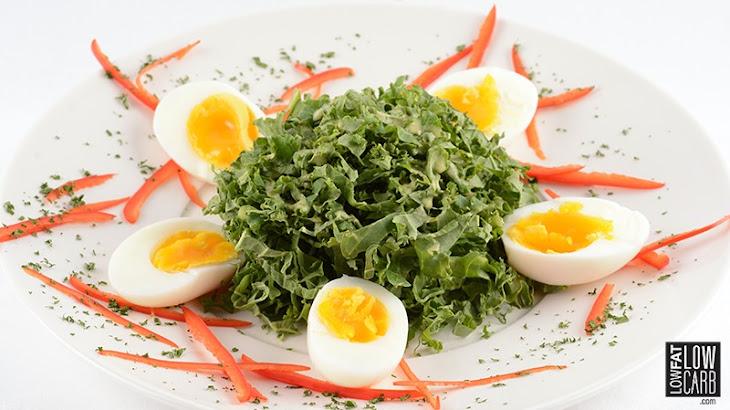 Egg & Kale Salad with Mustard Vinaigrette Recipe | Yummly