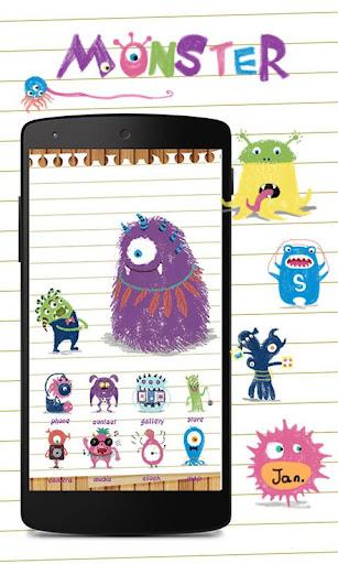 Lovely Monster GoLauncherTheme
