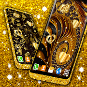 Golden Wallpaper Fancy 💛 Shine Luxurious Theme