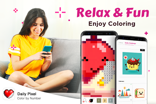 Daily Pixel - Color by Number, Happy Pixel Art - screenshot