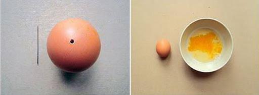 diy œufs de Pâques confettis vider un oeuf