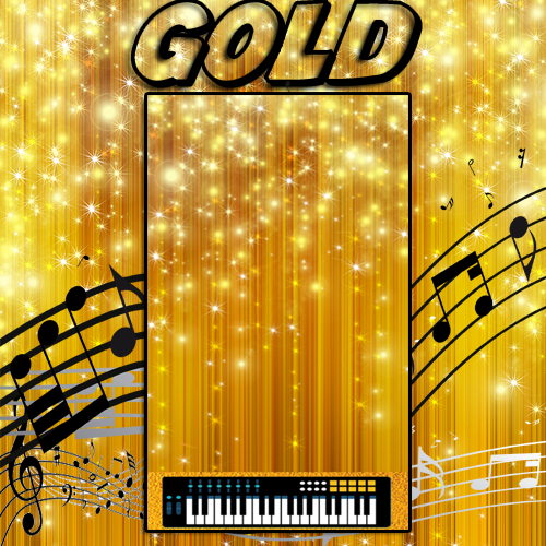 Tap The Piano Tiles gold Theme for PC