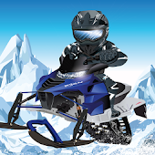 Snowmobile Hill Racing