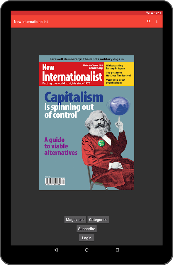 New Internationalist magazine- screenshot