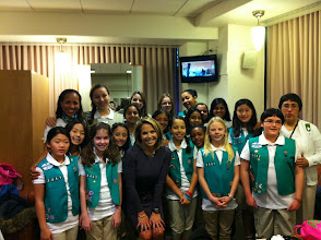 Photo: With Girl scouts troop 3441 from New York City!!