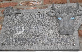 Photo: deigne, dorpje had iets met koeien of stieren