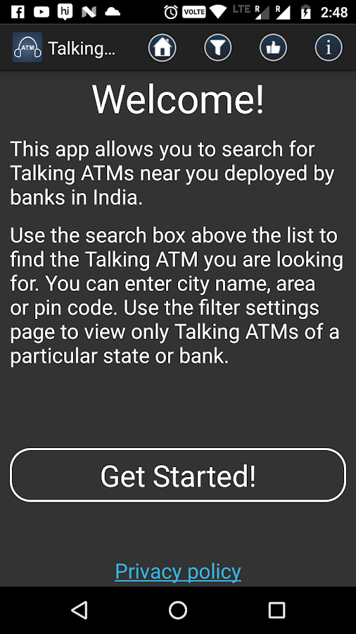 Talking ATM Locator- screenshot