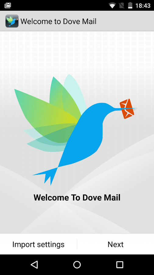 Dove Mail- screenshot
