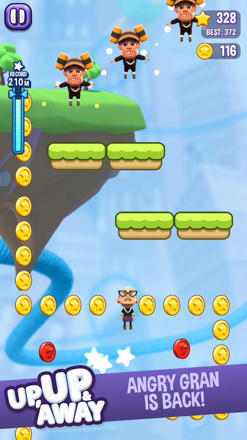 Angry Gran Up Up and Away - Jump- screenshot