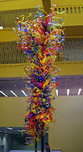 """Photo: """"Fiesta Tower"""" by Dale Chihuly, in the San Antonio Central Library"""