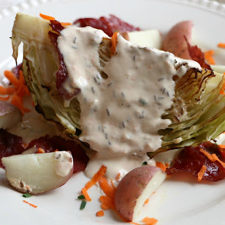 Corned Beef & Cabbage Salad with Creamy Carrot Caraway Dressing Recipe