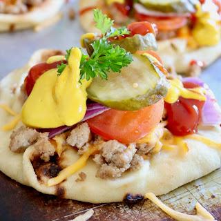 Cheeseburger Naan Pizza.