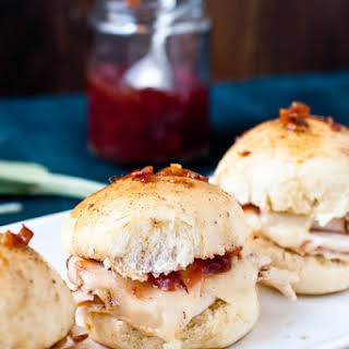 Baked Turkey & Cranberry Sliders.
