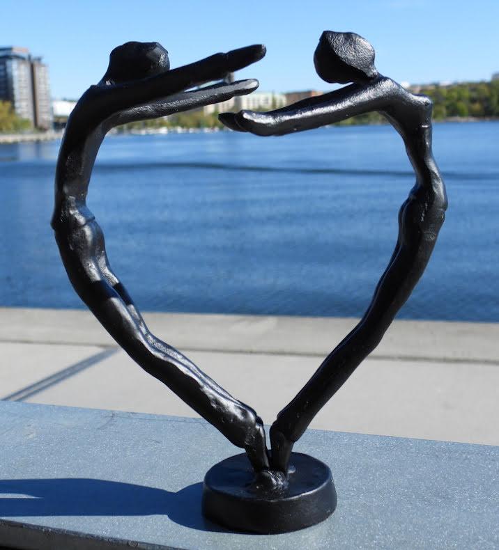 Heart - metallfigur