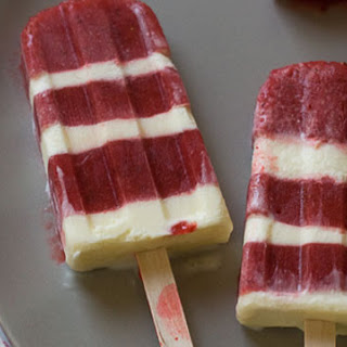 Strawberries and Cream Popsicles.