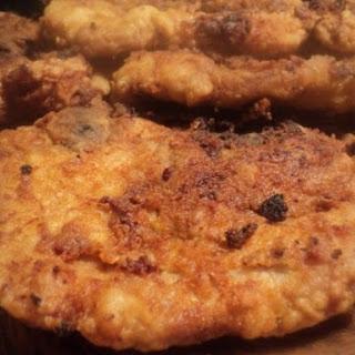 Mustard Rubbed Fried Pork Chops.