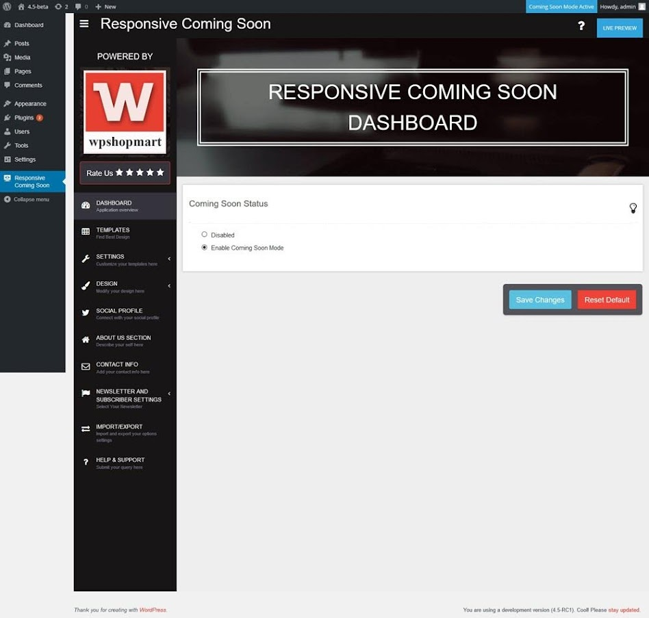 Coming-Soon-Page-and-Maintenance-Mode-Trang-dashboard