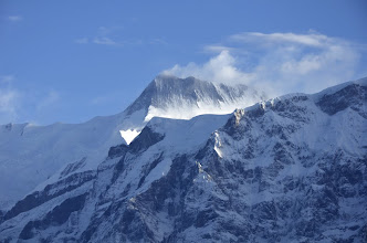 Photo: L'Annapurna II depuis Chomro Dharmasala