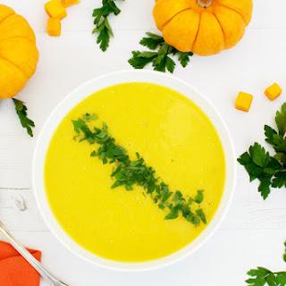 Pumpkin & Apple Ginger Soup [vegan] [gluten free]
