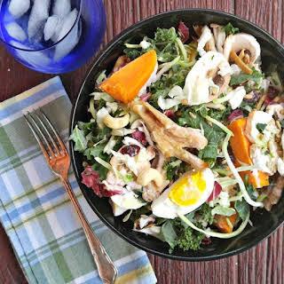 Hearty Chicken Sunflower Kale Salad.