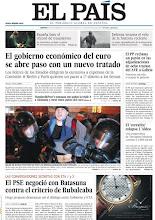"""Photo: En nuestra portada del martes 6 de diciembre: """"El PSE negoció con Batasuna contra el criterio de Rubalcaba"""" y """"El gobierno económico del euro se abre paso con un nuevo tratado"""". http://www.elpais.com/static/misc/portada20111206.pdf"""