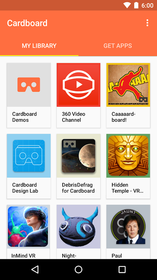 Cardboard- screenshot