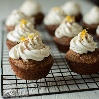 Cinnamon Chocolate Chip Muffins - Honey Frosting