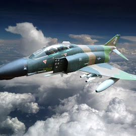 Phanton by Claudio Vaz - Digital Art Things ( edited, model, sky, airplanes, air force, toy, aircraft, cloud, transportation )