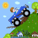 Hills race with obstacles icon