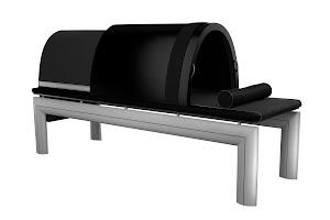 sauna japonais professionnel noir modèle sport  adapté aux centres sportifs