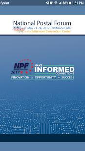National Postal Forum 2017 screenshot