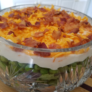 Layered Salad with Fresh English Peas