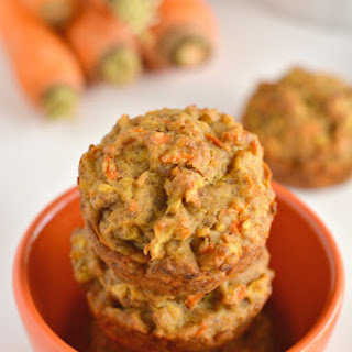 Carrot Apple Flax Muffins