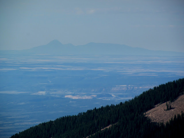Sleeping Ute Mountain, 85 miles away in Colorado