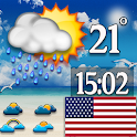 USA accurate weather forecast icon