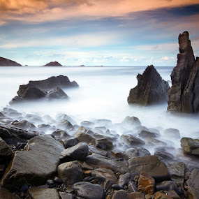 Sea Spires by Jorge Fonseca - Landscapes Waterscapes ( sea, long exposure, morning, stones, landscapes )